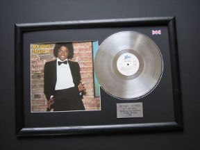 MICHAEL JACKSON - Off The Wall PLATINUM LP & Cover Presentation DISC